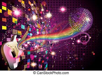 虹, 抽象的, 音楽, 背景
