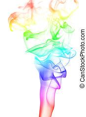 虹, 柱, 煙