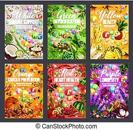 虹, 栄養, 色, 食物, 食事, 健康