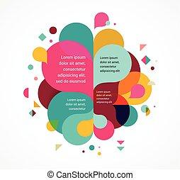 虹, 概念, カラフルである, ポスター, はね返し, 抽象的, 色, 背景, ベクトル, デザイン