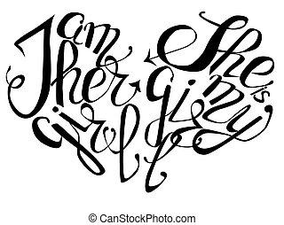 虹, 概念, 碑文, -, 手紙, lgtb, プラス, 女の子