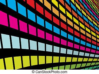 虹, 正方形