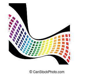虹, 波状, 正方形