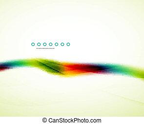 虹, 流れること, 波