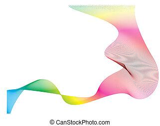 虹, 流れ, 波