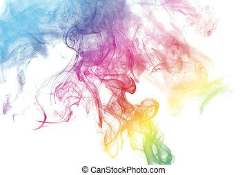 虹, 煙, 有色人種