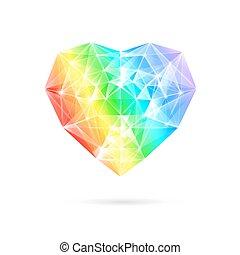 虹, 石, heart.