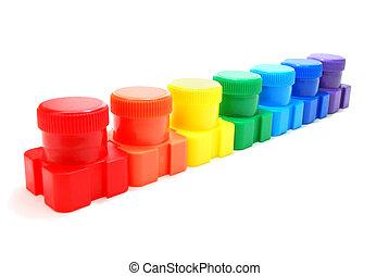 虹, 缶, インク