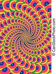 虹, 背景を彩色しなさい, 抽象的