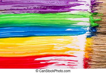 虹, 背景, ペンキ