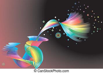 虹, 背景, 抽象的