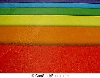 虹, 舗装, 有色人種