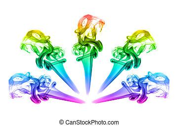 虹, 花, 煙, 形態