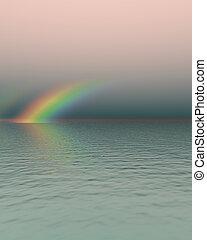 虹, 追跡