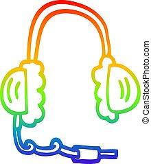 虹, 頭, 勾配, 電話, 図画, 線, 漫画