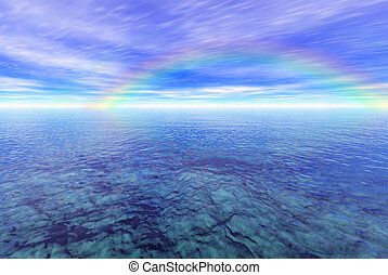 虹, 2, の上, 海