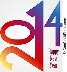 虹, 2014, イラスト, 年, 新しい, 幸せ