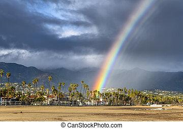 虹, barbara, santa, 嵐, の間
