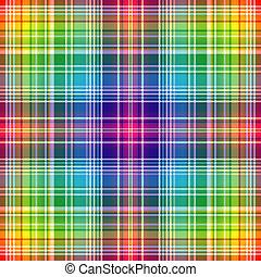 虹, checkered, seamless, パターン
