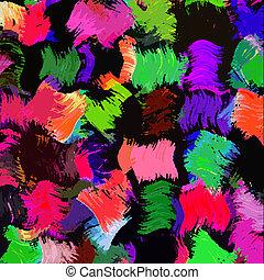 虹 grunge, しみになる, 抽象的, アップリケ, 黒, ブラシ, 背景, 背景