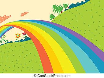 虹, lanscape