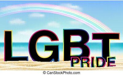 虹, lgbt, 砂の 海, 誇り, 浜