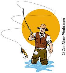 蚊ばり釣り