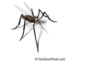蚊, 3d