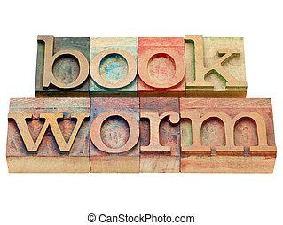 蛀書虫, 在, letterpress, 類型
