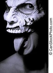 蛇神, 生活, 婦女, 面罩, 死