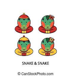 蛇, 漢語, 新年快樂