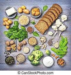 蛋白質, sources., 絕對素食者