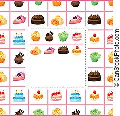 蛋糕, 卡片
