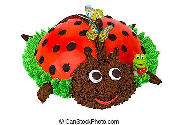 蛋糕, 在, the, 形式, ......的, a, 瓢蟲