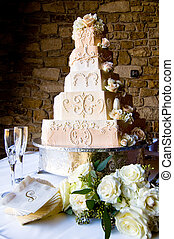 蛋糕, 奶油, 婚禮