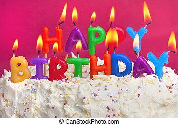 蛋糕, 生日, 开心