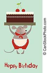 蛋糕, 老鼠, cooke