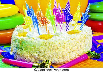 蛋糕, 蜡燭, 生日