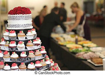 蛋糕, cupcakes, 婚禮