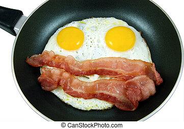 蛋, 咸肉