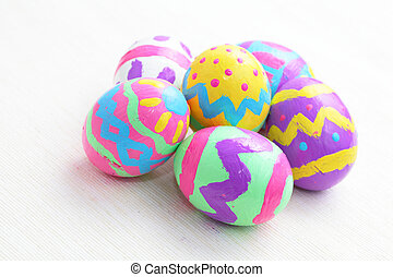 蛋, 復活節, 鮮艷