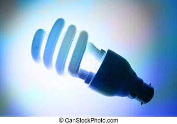 蛍光, コンパクト, 電球, ライト