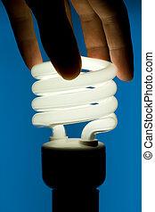 蛍光, 白い電球