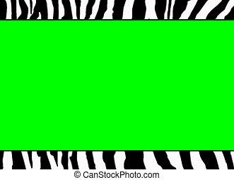 蛍光, 緑, シマウマ, テンプレート