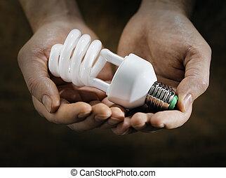 蛍光, 電球