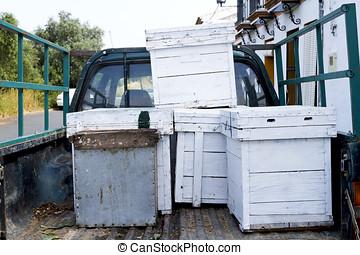 蜂窩, 卡車, 背