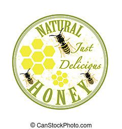 蜂蜜, 切手, 自然