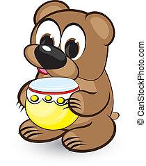 蜂蜜, 漫画, 熊