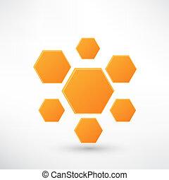 蜂蜜, 白, 隔離された, アイコン
