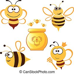 蜂蜜, 面白い, セット, 蜂